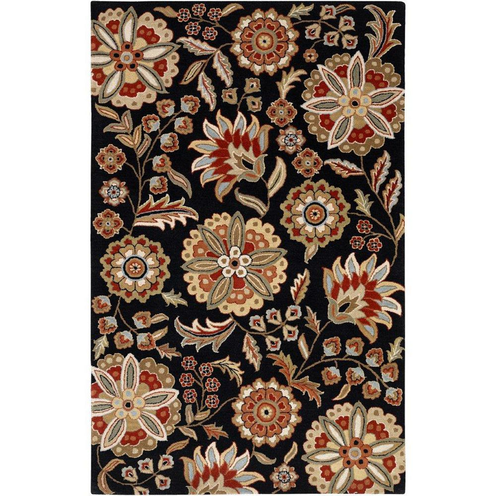 Artistic Weavers Anderson Black 7 ft. 6-inch x 9 ft. 6-inch Indoor Transitional Rectangular Area Rug