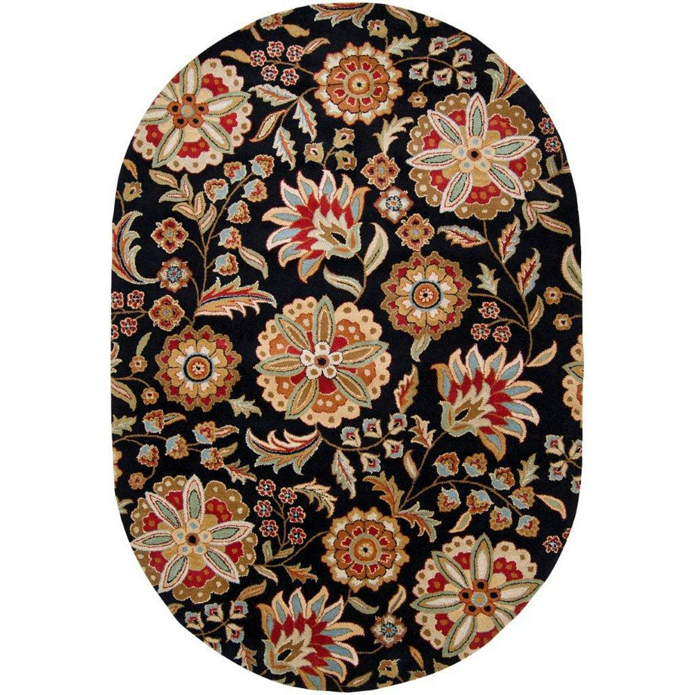 Artistic Weavers Anderson Black 8 ft. x 10 ft. Indoor Transitional Oval Area Rug