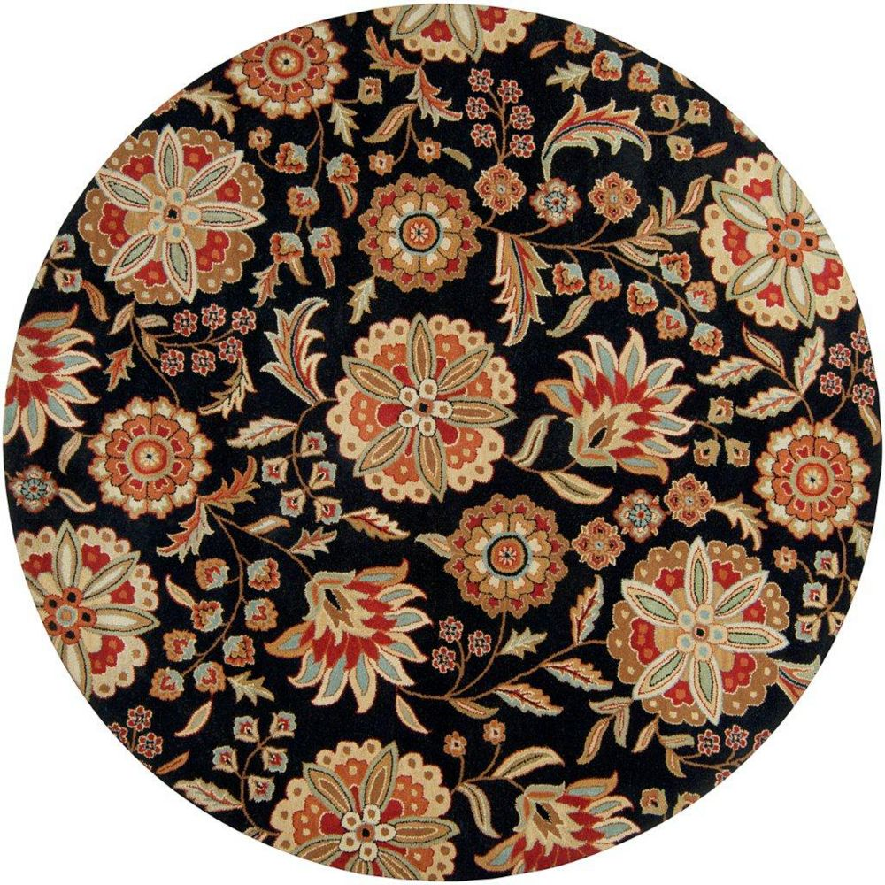 Artistic Weavers Anderson Black 8 ft. x 8 ft. Indoor Transitional Round Area Rug