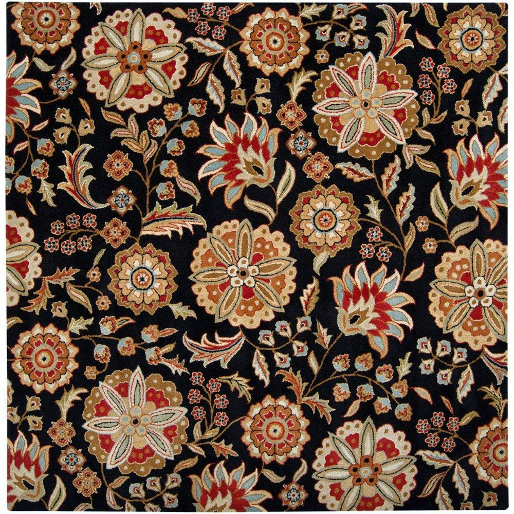 Artistic Weavers Anderson Black 9 ft. 9-inch x 9 ft. 9-inch Indoor Transitional Square Area Rug