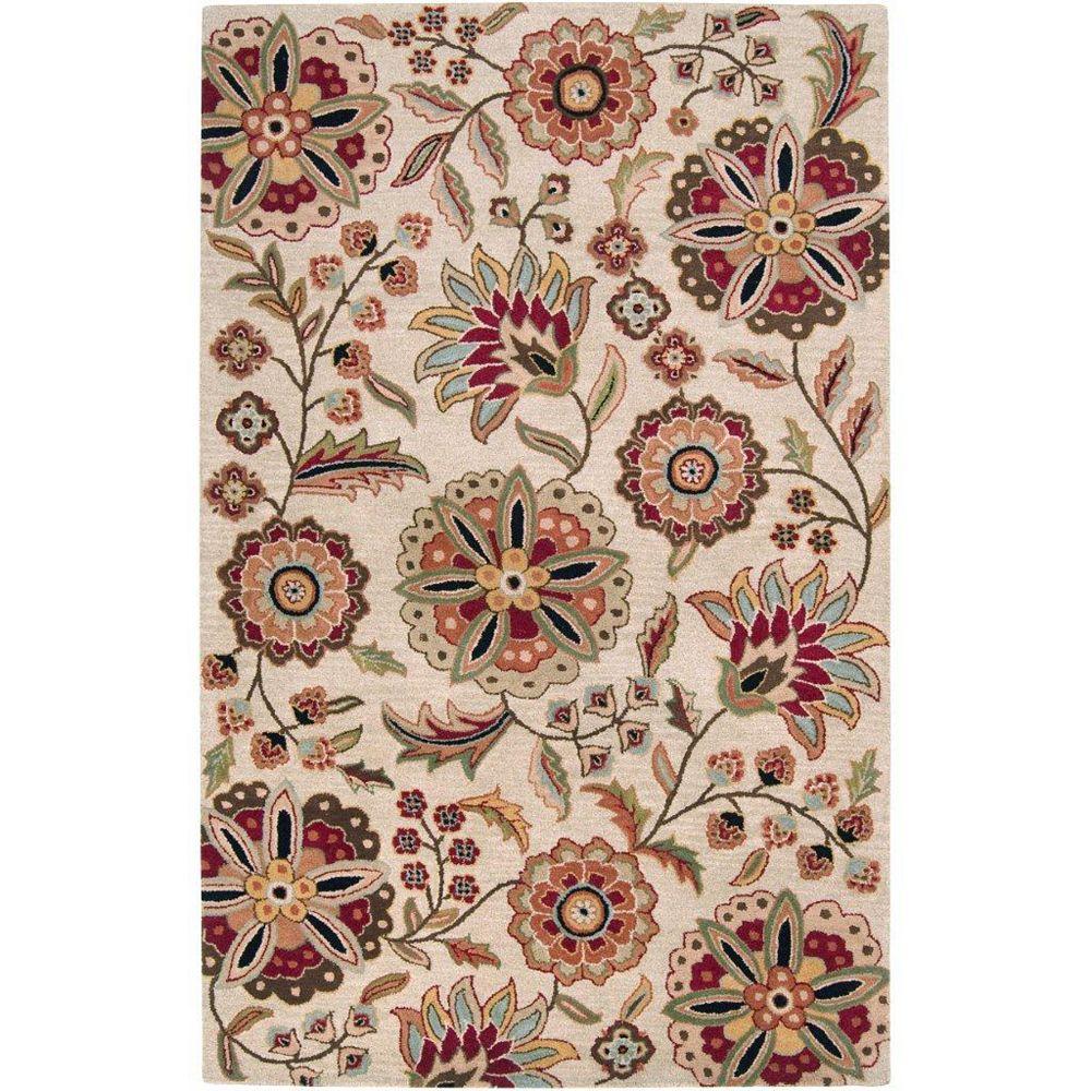 Artistic Weavers Carpette d'intérieur, 2 pi x 3 pi, style transitionnel, rectangulaire, brun Antioch