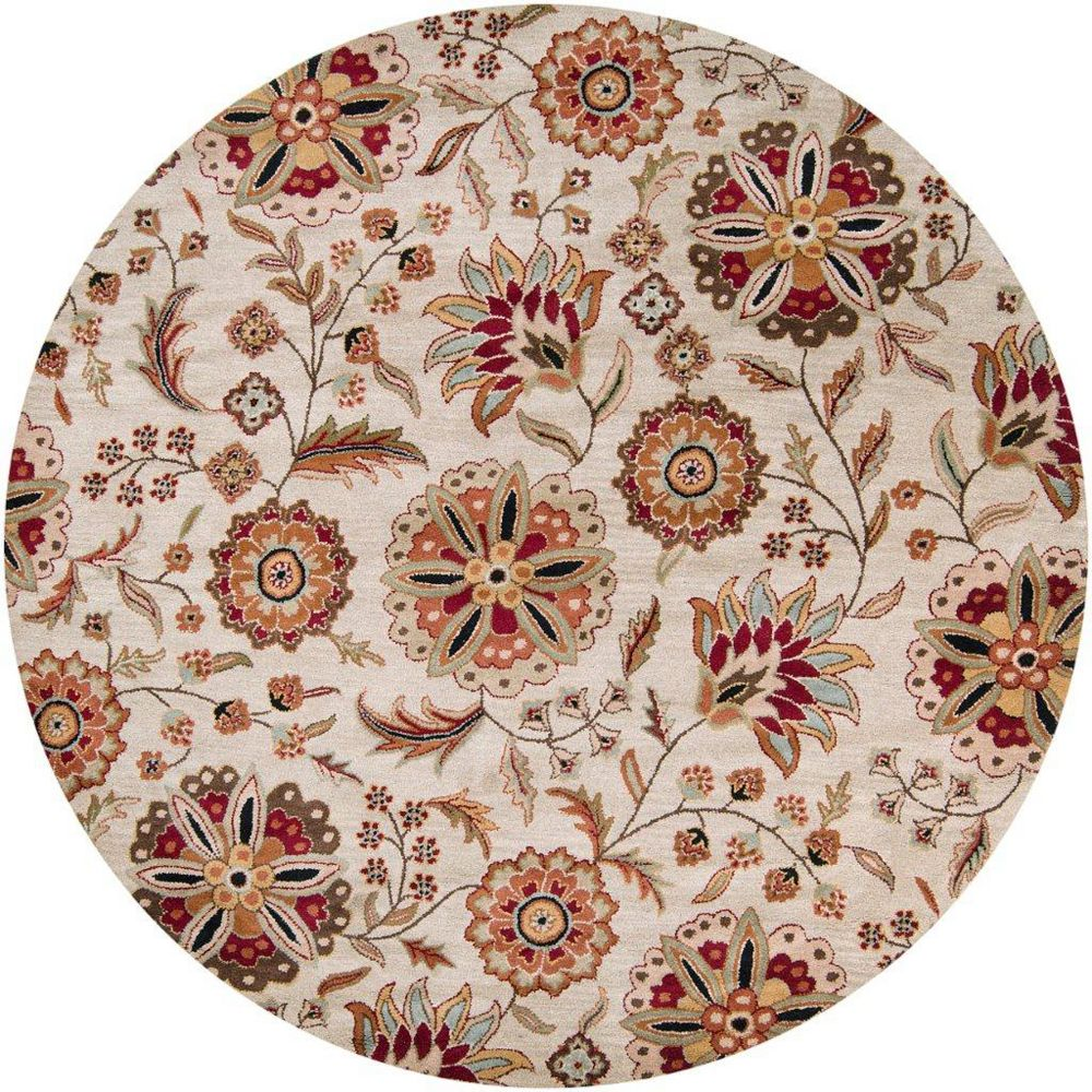 Artistic Weavers Antioch Beige Tan 4 ft. x 4 ft. Indoor Transitional Round Area Rug