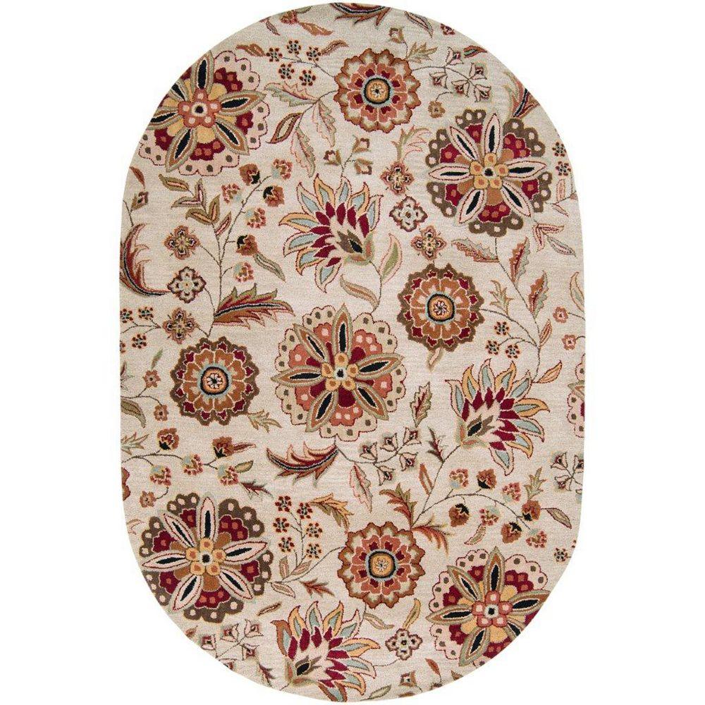 Artistic Weavers Carpette d'intérieur, 6 pi x 9 pi, style transitionnel, ovale, brun Antioch