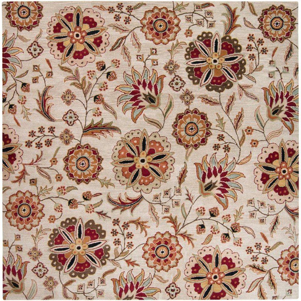 Artistic Weavers Carpette d'intérieur, 8 pi x 8 pi, style transitionnel, carré, brun Antioch