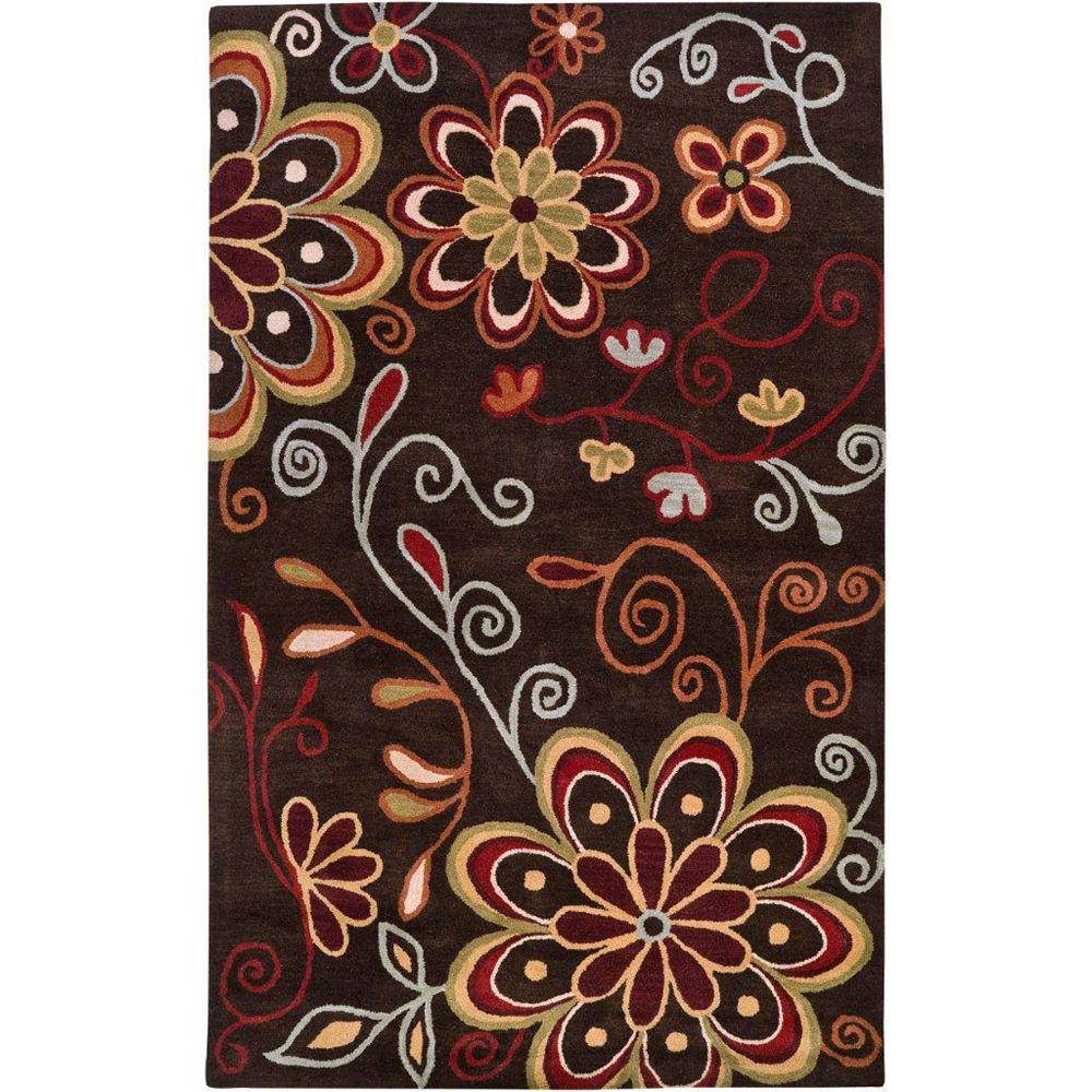 Artistic Weavers Carpette d'intérieur, 5 pi x 8 pi, style transitionnel, rectangulaire, brun Arcadia