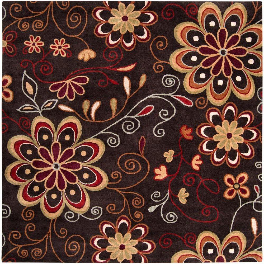 Artistic Weavers Carpette d'intérieur, 8 pi x 8 pi, style transitionnel, carré, brun Arcadia