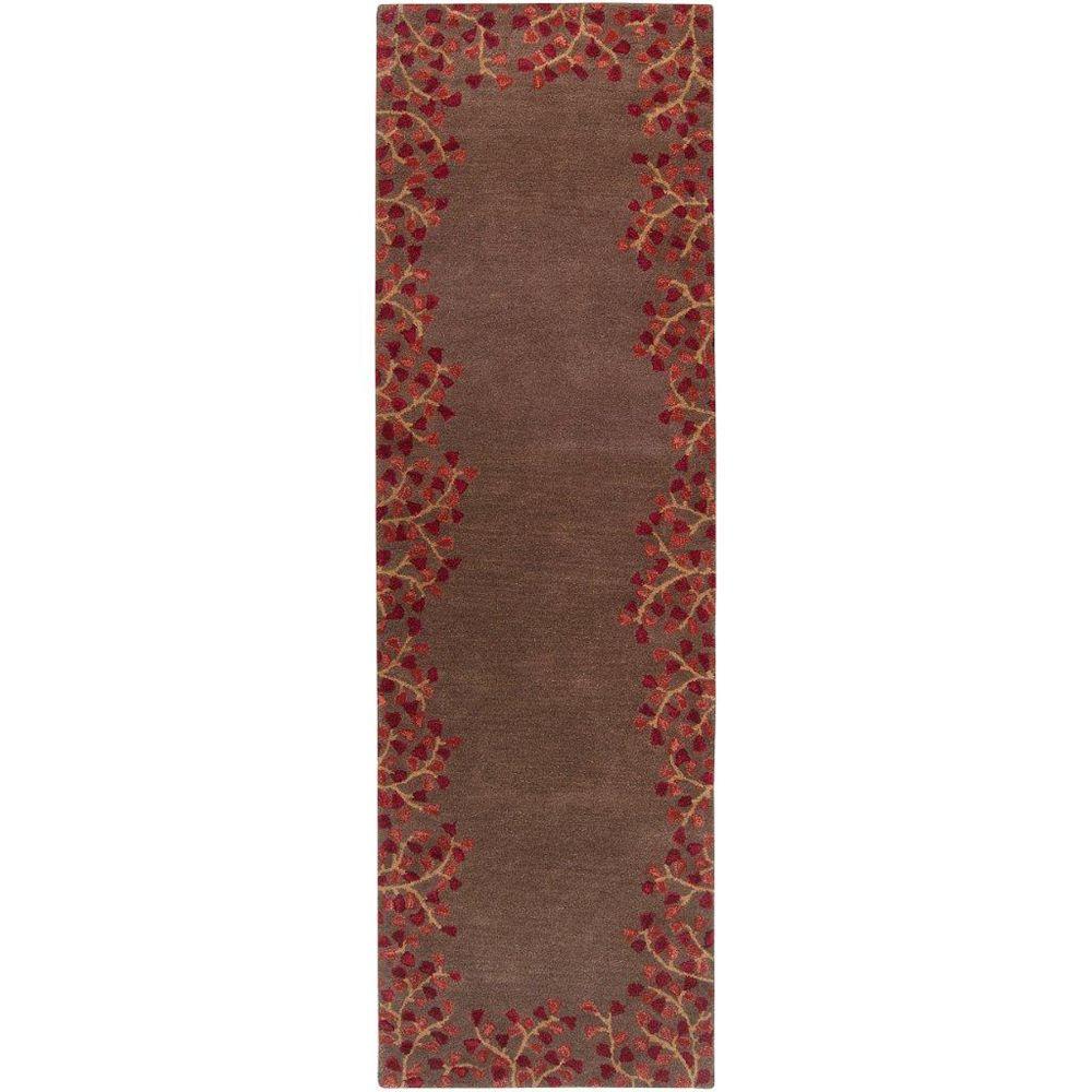 Artistic Weavers Tapis de passage d'intérieur, 2 pi 6 po x 8 pi, style transitionnel, brun Alturas