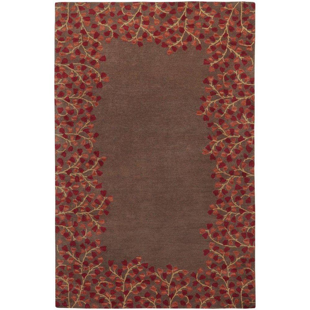 Artistic Weavers Carpette d'intérieur, 5 pi x 8 pi, style transitionnel, rectangulaire, brun Alturas