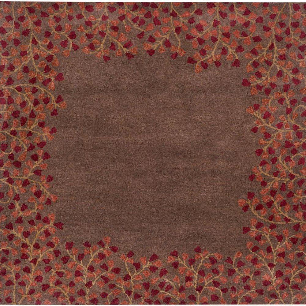 Artistic Weavers Carpette d'intérieur, 8 pi x 8 pi, style transitionnel, carrée, brun Alturas