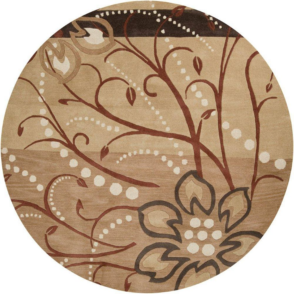 Artistic Weavers Amador Brown 4 ft. x 4 ft. Indoor Transitional Round Area Rug