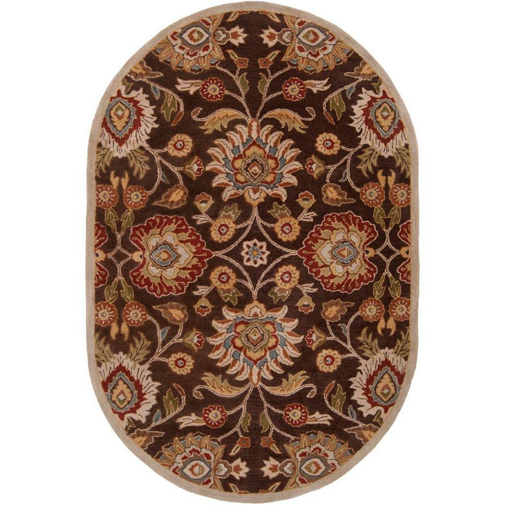 Artistic Weavers Dachstein Brown 6 ft. x 9 ft. Indoor Transitional Oval Area Rug