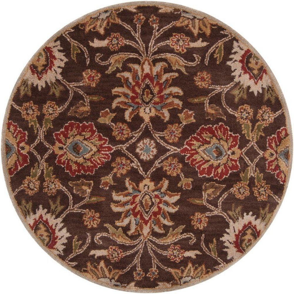 Artistic Weavers Dachstein Brown 6 ft. x 6 ft. Indoor Transitional Round Area Rug