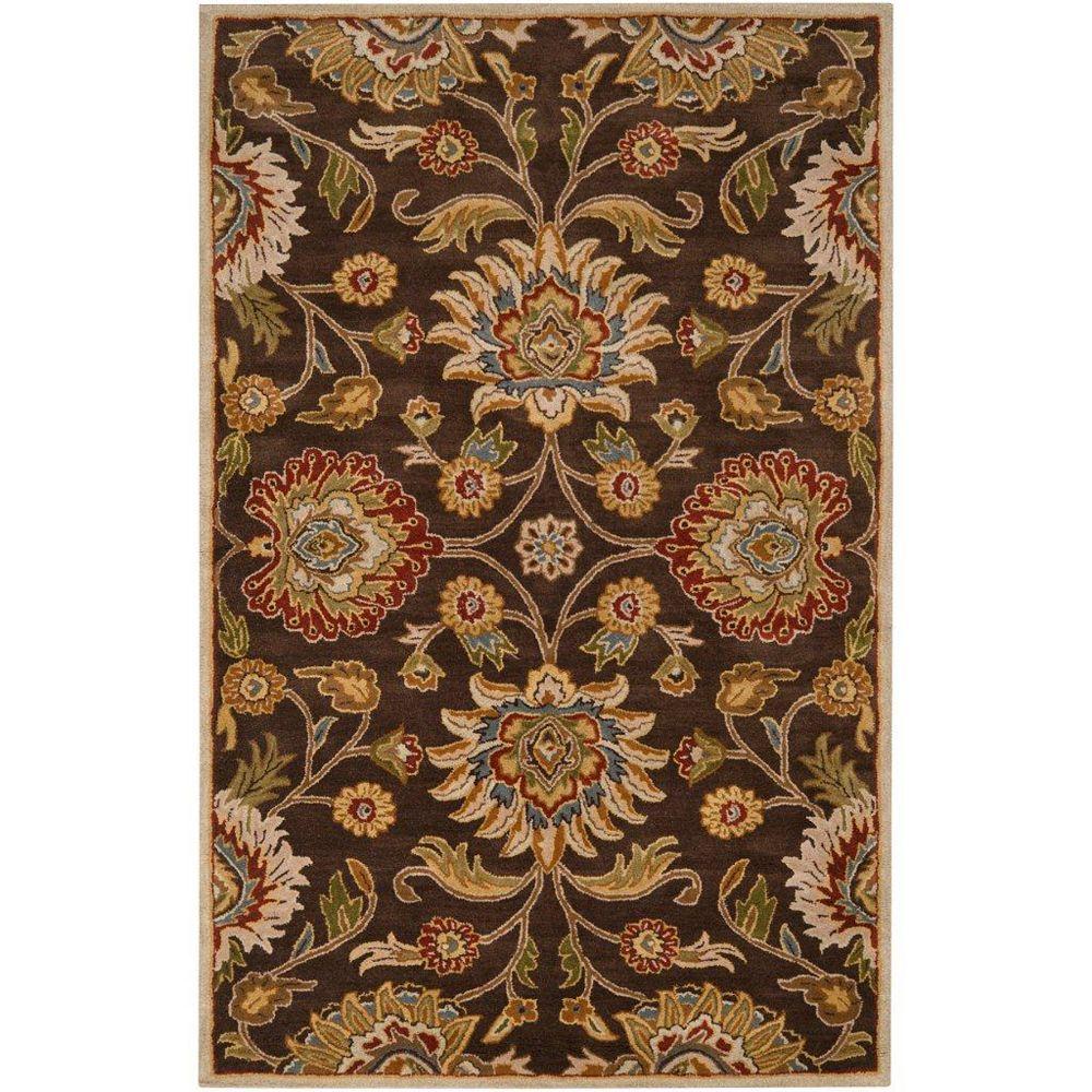 Artistic Weavers Dachstein Brown 8 ft. x 11 ft. Indoor Transitional Rectangular Area Rug