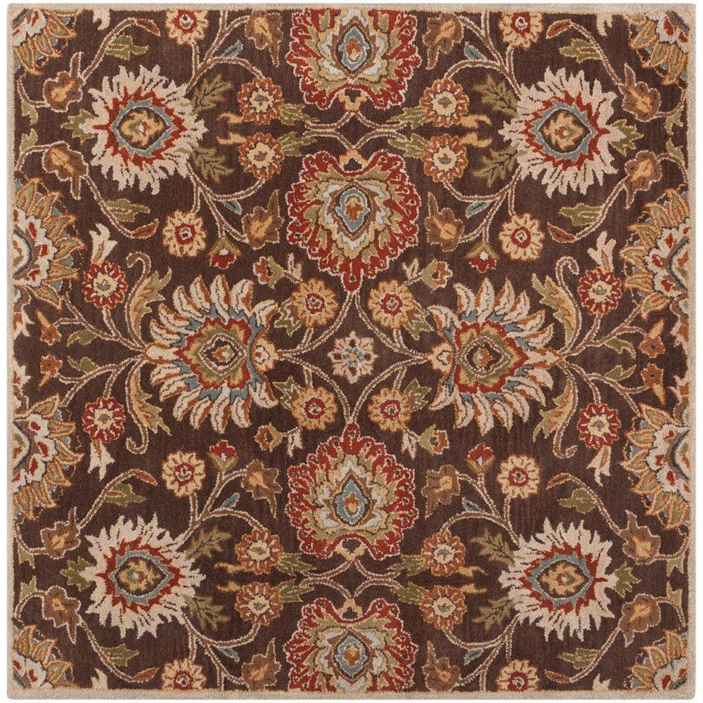 Artistic Weavers Dachstein Brown 8 ft. x 8 ft. Indoor Transitional Square Area Rug
