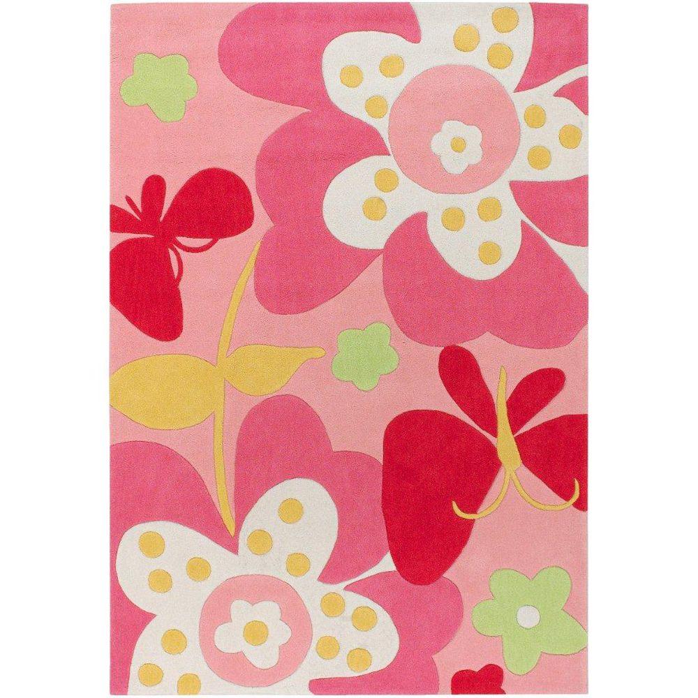 Artistic Weavers Carpette d'intérieur, 4 pi 10 po x 7 pi, style contemporain, rectangulaire, rose Eaubonne