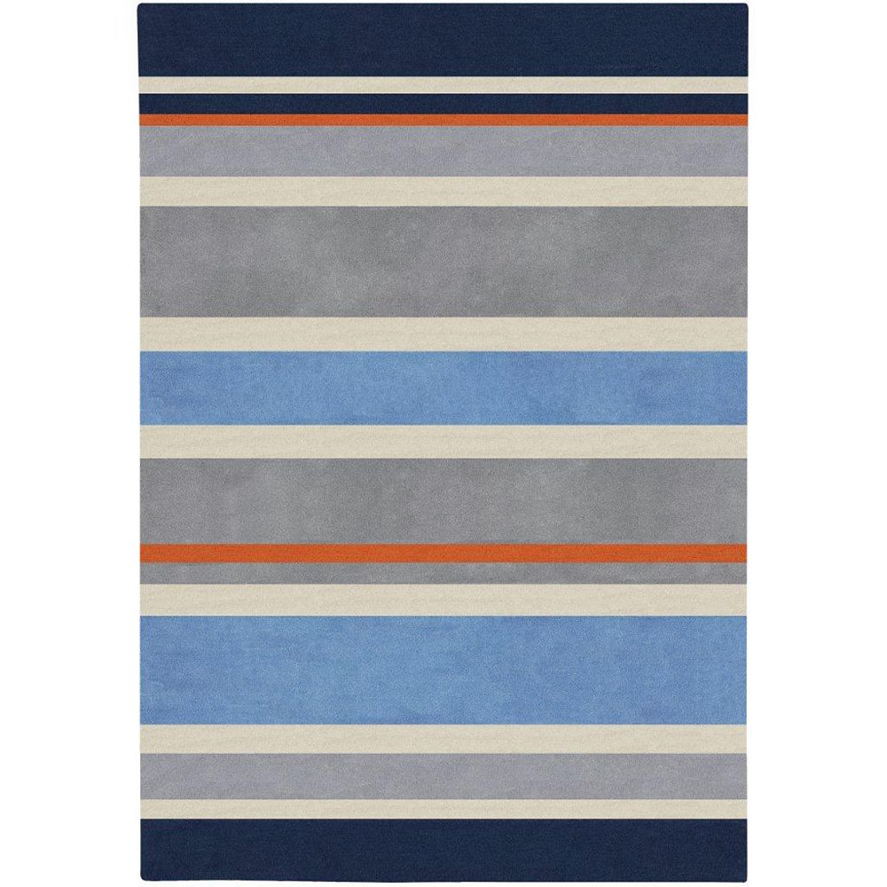 Artistic Weavers Fabrezan Blue 3 ft. x 5 ft. Indoor Contemporary Rectangular Area Rug