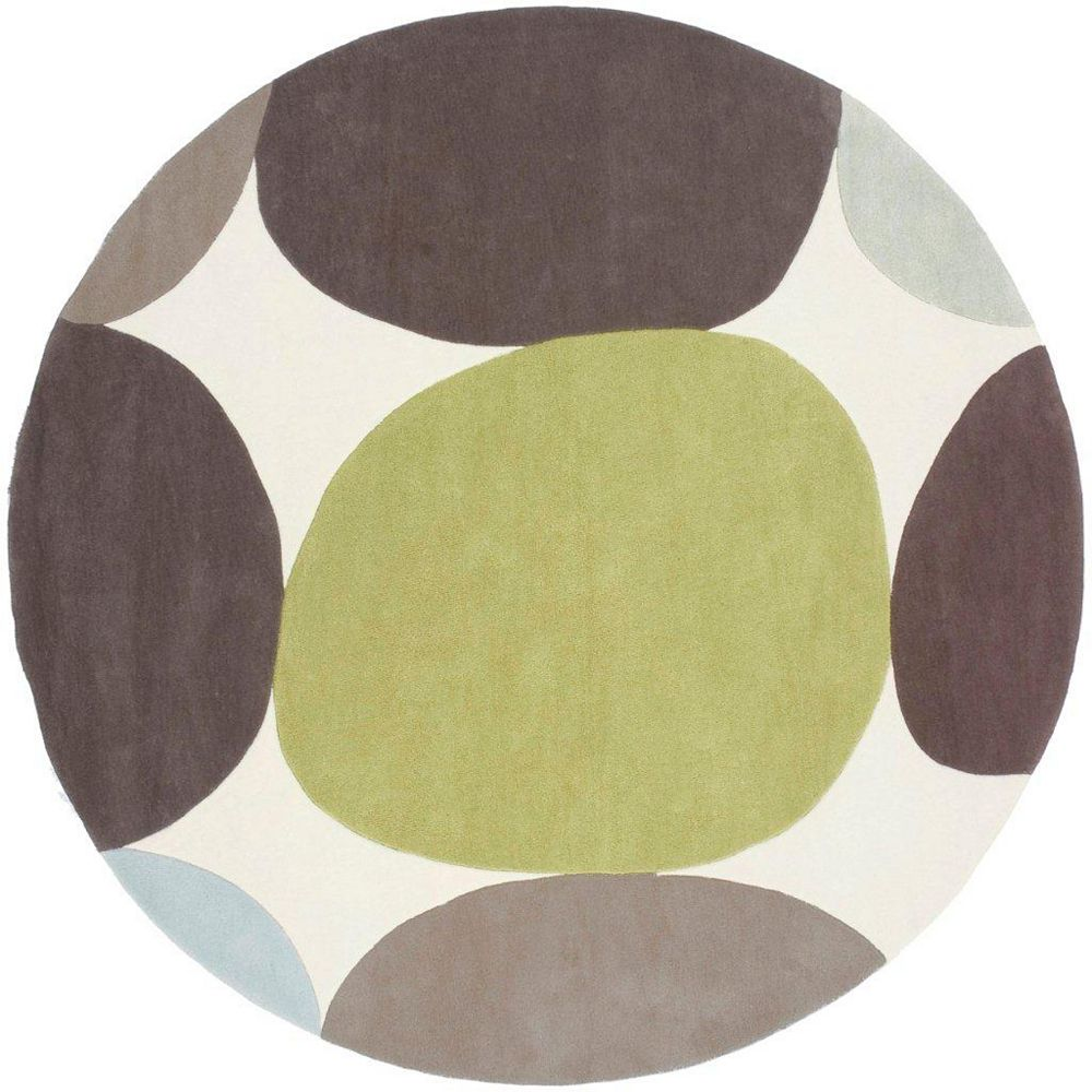 Artistic Weavers Falleron Brown 8 ft. x 8 ft. Indoor Transitional Round Area Rug