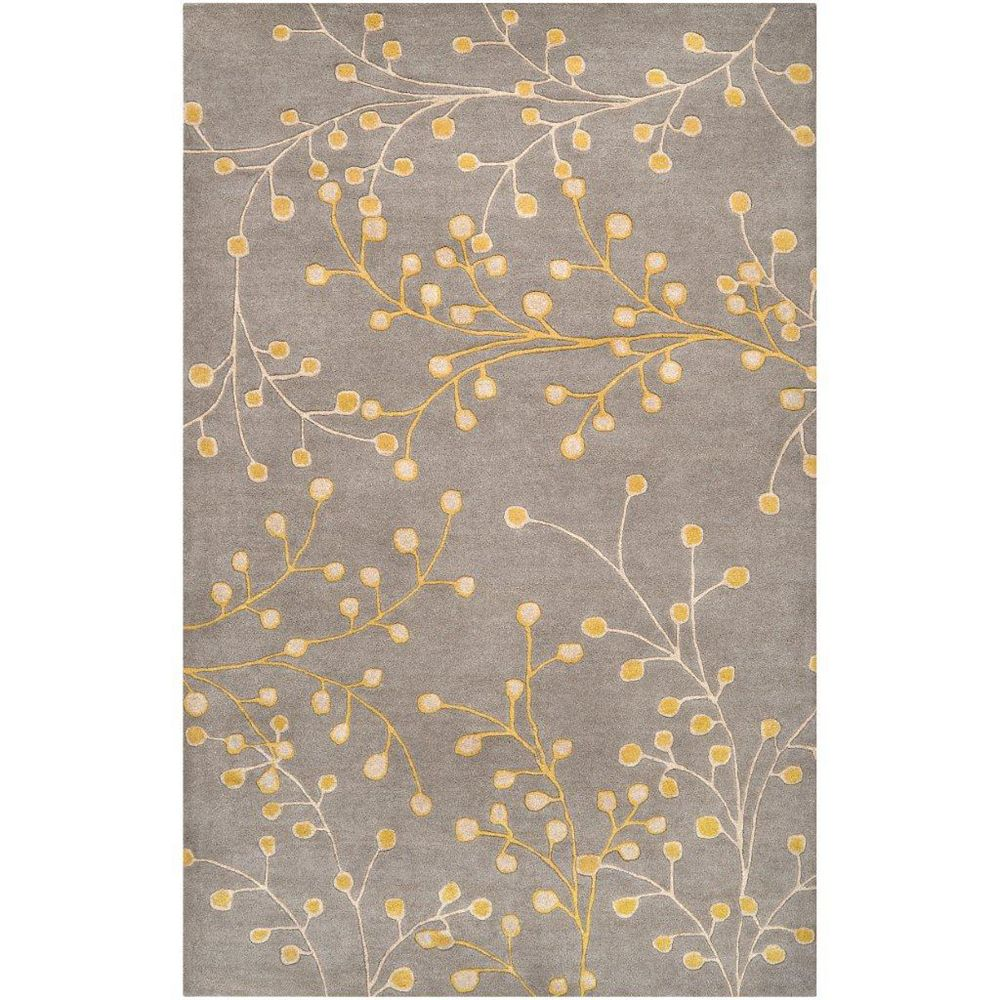 Artistic Weavers Carpette d'intérieur, 2 pi x 3 pi, style transitionnel, rectangulaire, gris Arroyo