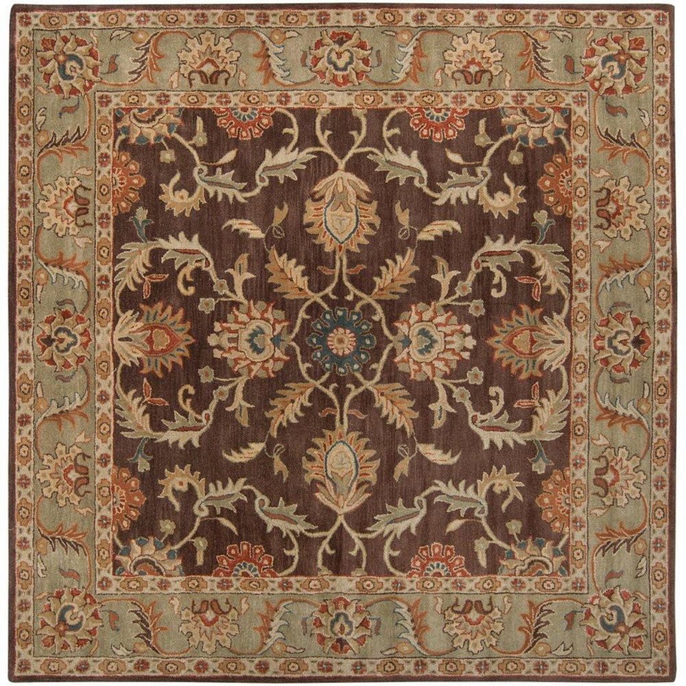 Artistic Weavers Brawley Brown 9 ft. 9-inch x 9 ft. 9-inch Indoor Traditional Square Area Rug