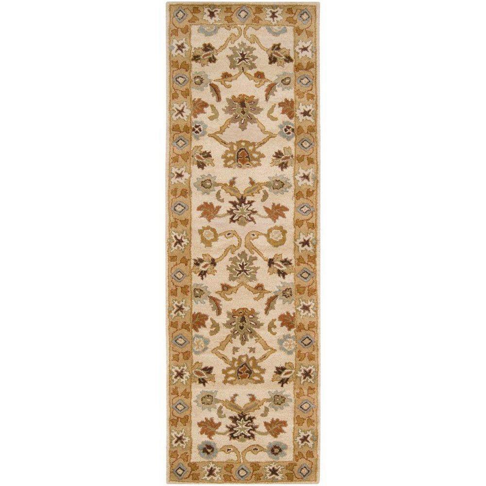 Artistic Weavers Tapis de passage d'intérieur, 3 pi x 12 pi, style transitionnel, havane Brea