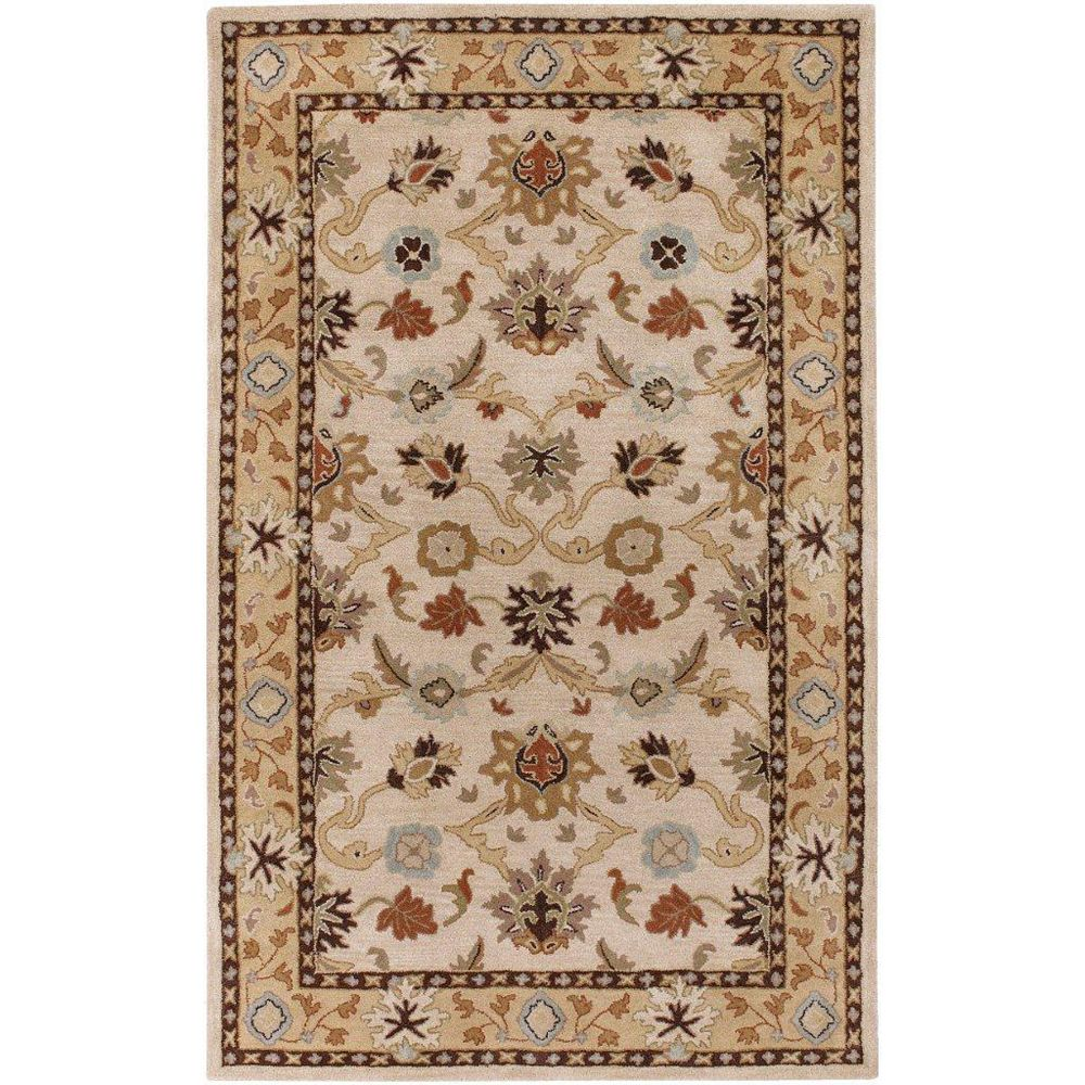 Artistic Weavers Brea Beige Tan 7 ft. 6-inch x 9 ft. 6-inch Indoor Traditional Rectangular Area Rug