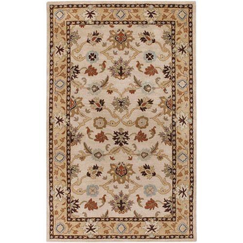 Carpette d'intérieur, 7 pi 6 po x 9 pi 6 po, style traditionnel, rectangulaire, havane Brea