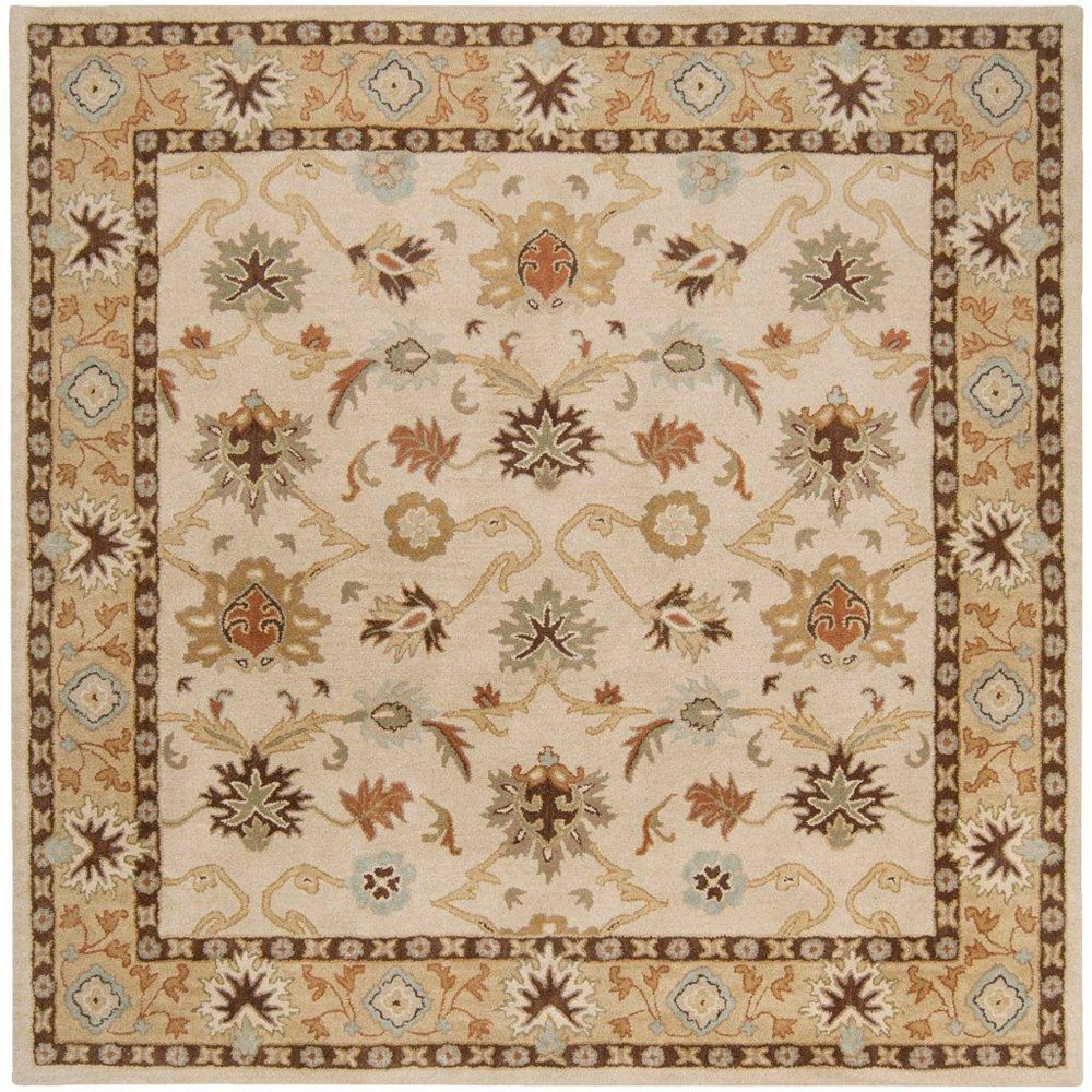 Artistic Weavers Brea Beige Tan 8 ft. x 8 ft. Indoor Traditional Square Area Rug