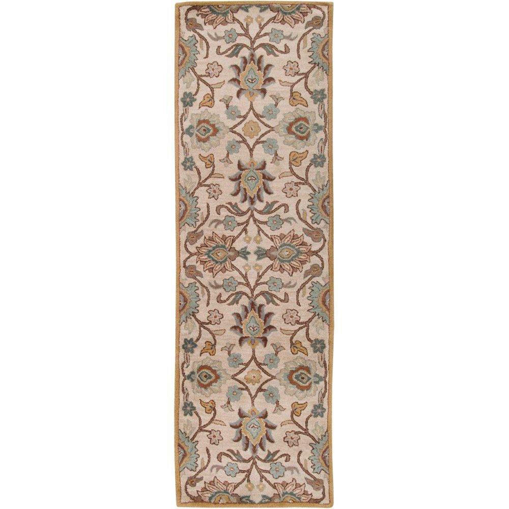 Artistic Weavers Tapis de passage d'intérieur, 2 pi 6 po x 8 pi, style transitionnel, gris Brentwood