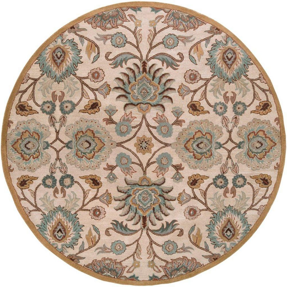 Artistic Weavers Brentwood Beige Tan 6 ft. x 6 ft. Indoor Transitional Round Area Rug