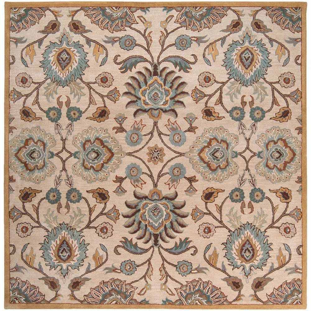 Artistic Weavers Brentwood Beige Tan 6 ft. x 6 ft. Indoor Transitional Square Area Rug