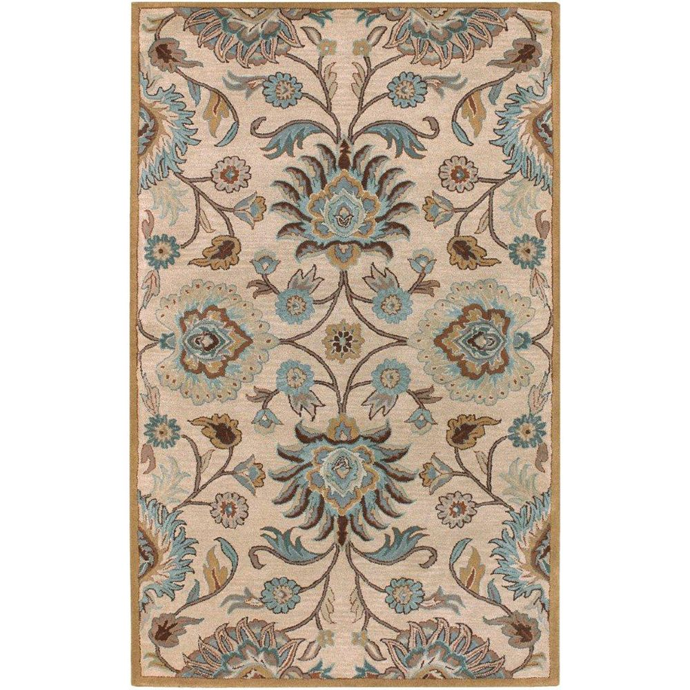 Artistic Weavers Brentwood Beige Tan 7 ft. 6-inch x 9 ft. 6-inch Indoor Transitional Rectangular Area Rug