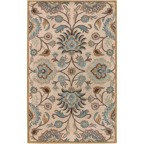 Carpette d'intérieur, 7 pi 6 po x 9 pi 6 po, style transitionnel, rectangulaire, havane Brentwood