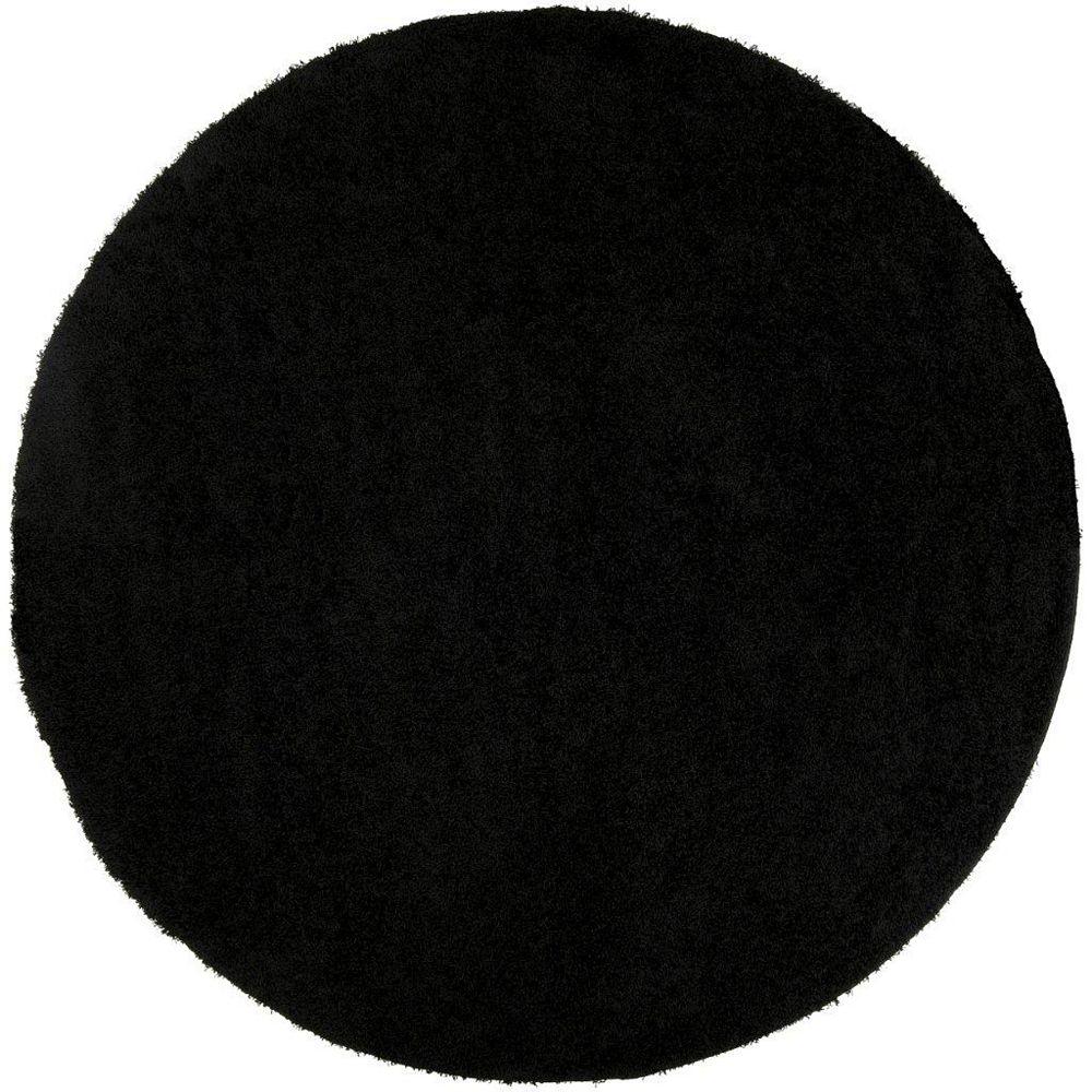 Artistic Weavers Objat Black 4 ft. x 4 ft. Round Area Rug