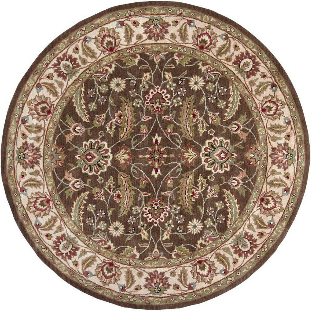 Artistic Weavers Belvedere Brown 4 ft. x 4 ft. Indoor Traditional Round Area Rug