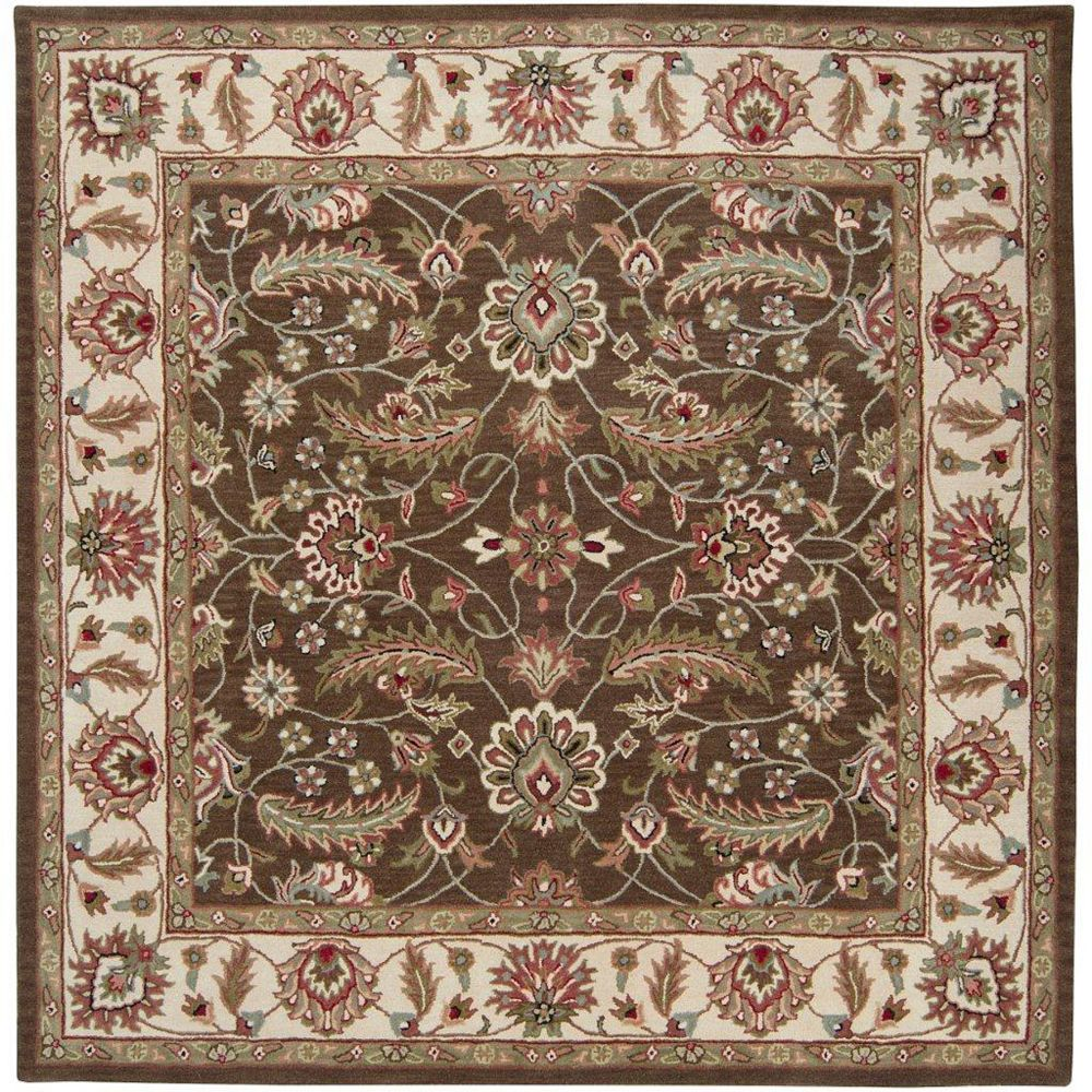 Artistic Weavers Belvedere Brown 4 ft. x 4 ft. Indoor Traditional Square Area Rug