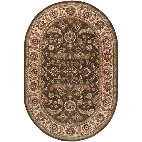 Artistic Weavers Belvedere Brown 6 ft. x 9 ft. Indoor Traditional Oval Area Rug