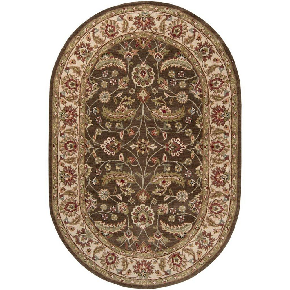 Artistic Weavers Belvedere Brown 8 ft. x 10 ft. Indoor Transitional Oval Area Rug