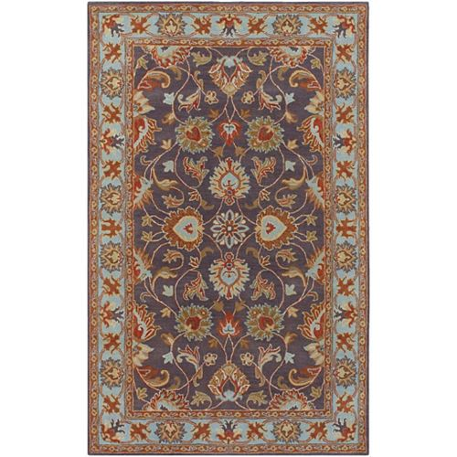Artistic Weavers Benicia Blue 5 ft. x 8 ft. Indoor Traditional Rectangular Area Rug