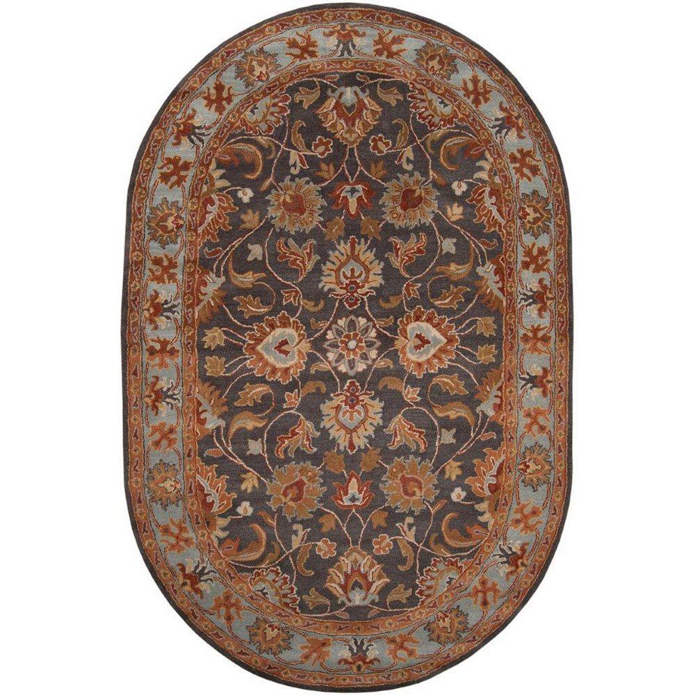 Artistic Weavers Carpette d'intérieur, 6 pi x 9 pi, style traditionnel, ovale, bleu Benicia