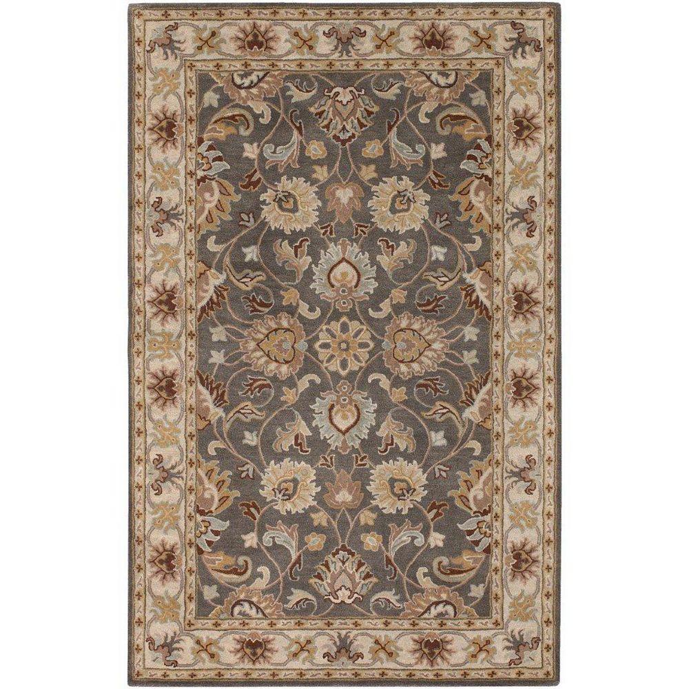 Artistic Weavers Carpette d'intérieur, 2 pi x 3 pi, style transitionnel, rectangulaire, gris Berkeley