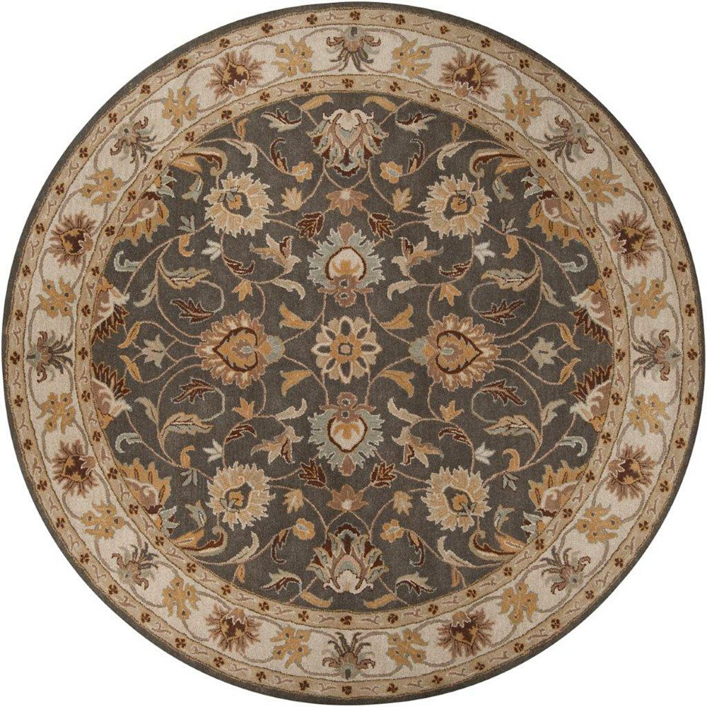 Artistic Weavers Berkeley Beige Tan 4 ft. x 4 ft. Indoor Traditional Round Area Rug