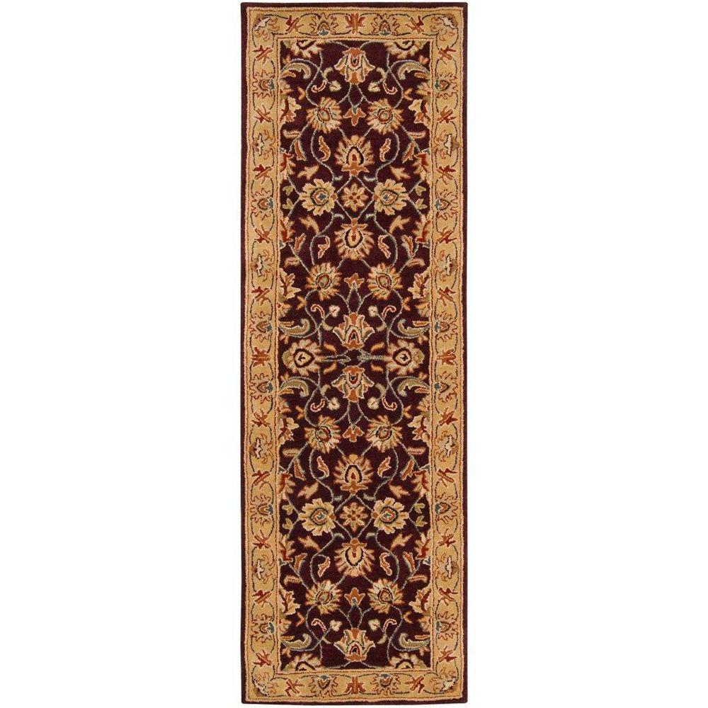 Artistic Weavers Tapis de passage d'intérieur, 3 pi x 12 pi, style traditionnel, havane Palajaviolet Buellton
