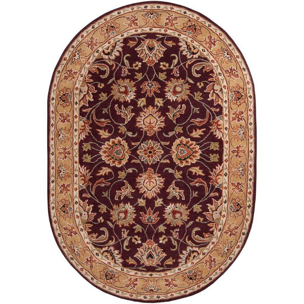 Artistic Weavers Carpette d'intérieur, 8 pi x 10 pi, style traditionnel, ovale, violet Buellton