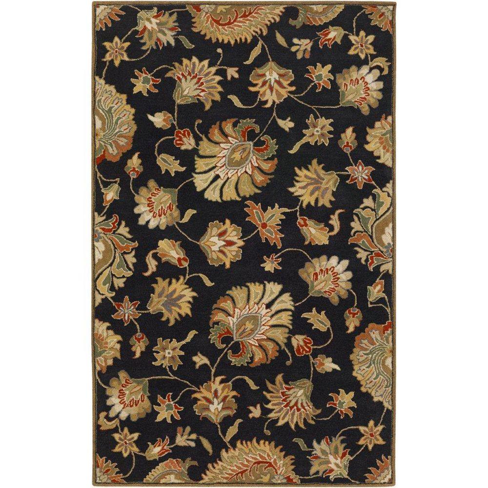 Artistic Weavers Carpette d'intérieur, 6 pi x 9 pi, style transitionnel, rectangulaire, noir Burbank