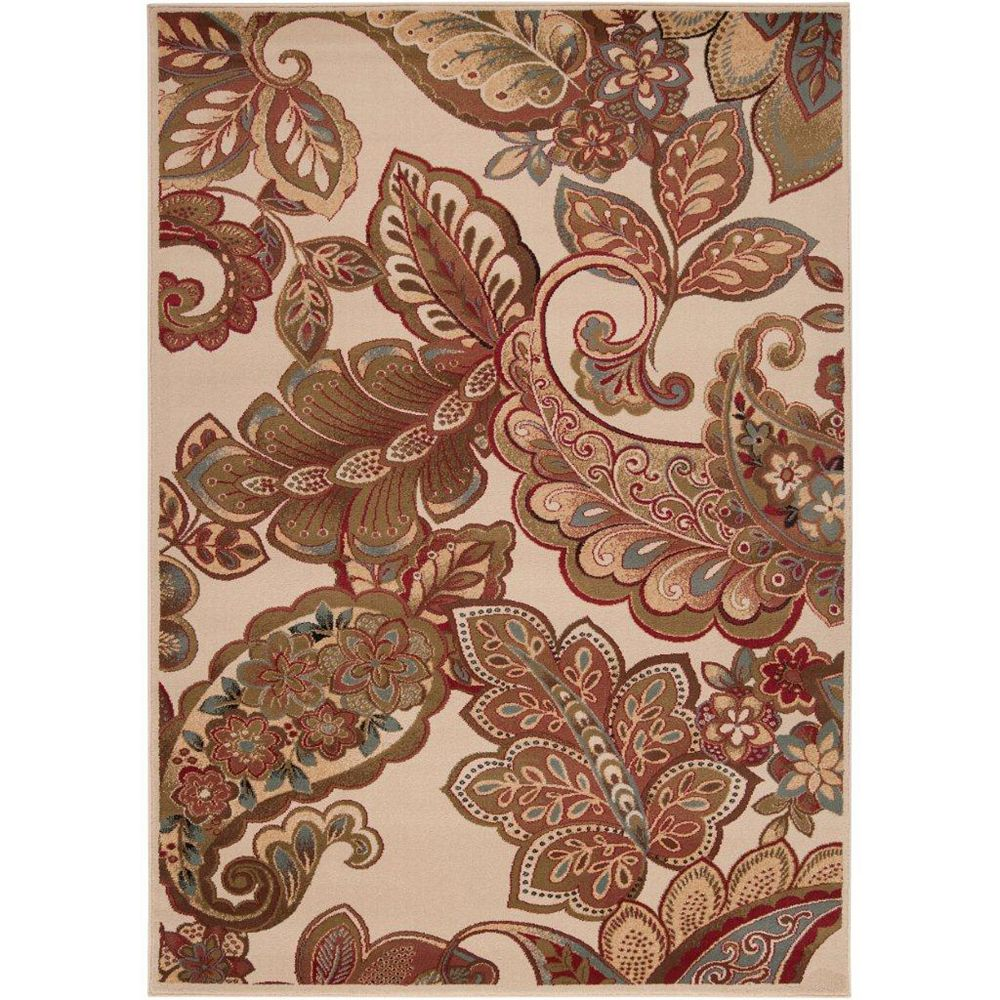 Artistic Weavers Burnaby Brown 4 ft. x 5 ft. 5-inch Indoor Transitional Rectangular Area Rug