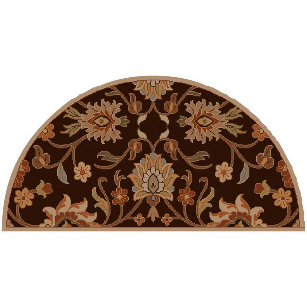 Artistic Weavers Dachstein Brown 2 ft. x 4 ft. Indoor Transitional Semi-Circular Accent Rug