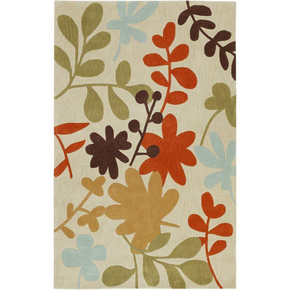 Artistic Weavers Carpette d'intérieur, 3 pi 6 po x 5 pi 6 po, style transitionnel, rectangulaire, havane Nailloux