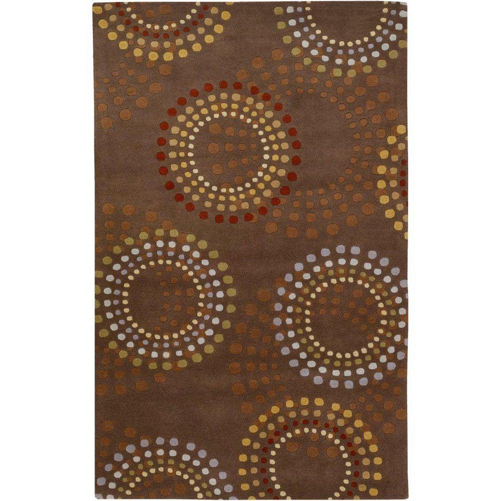 Artistic Weavers Rantigny Brown 4 ft. x 6 ft. Indoor Contemporary Rectangular Area Rug