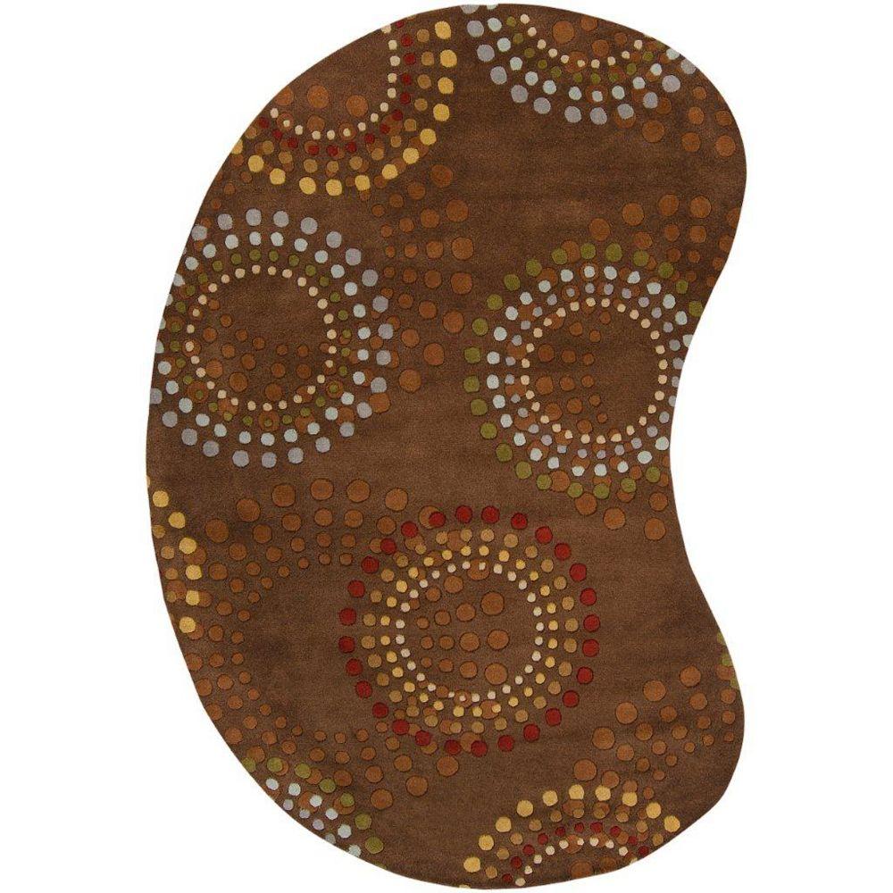 Artistic Weavers Carpette d'intérieur, 8 pi x 10 pi, style contemporain, forme irrégulière, brun Rantigny