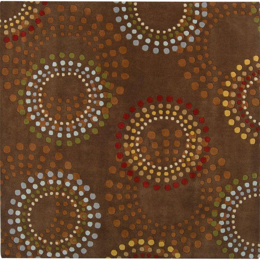 Artistic Weavers Carpette d'intérieur, 8 pi x 8 pi, style contemporain, carrée, brun Rantigny